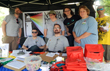 LGBT table at Blues and Jazz Fest