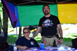 2016-08-06 LGBTQ Info Table at Blues and Jazz Fest
