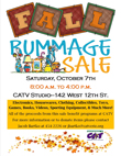 Community Access TV (CATV) Fall Rummage Sale on October 7