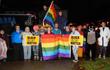 2017-10-28 LGBT Walking Unit in Meadville Halloween Parade