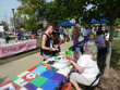 Tables at Pride Fest on August 27